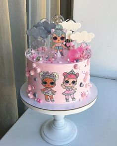 The 20 most beautiful cakes of Lol Surprise Raspberry Smoothie, Apple Smoothies, Funny Birthday Cakes, Birthday Parties, Funny Cake, Cake Birthday, Bolo Lady Bug, Lol Doll Cake, Doll Party