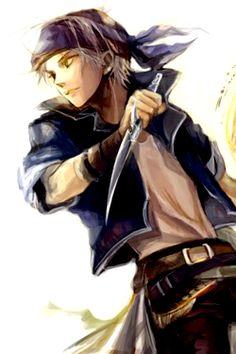 Final Fantasy - Locke Cole; I was in love with this guy when I was younger!