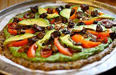 pizza vegana crua receita