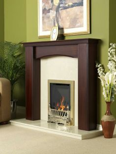Kenilworth, High Efficiency, Brass Fascia, Gas Fire, Coal Fuel Bed