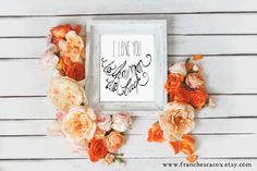I love you to the moon and back  INSTANT DOWNLOAD by franchescacox