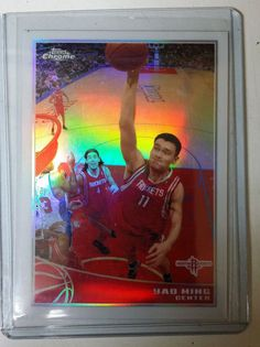 2009/10 Topps Chrome Yao Ming #34 Refractor   #410/500 MINT FROM PACK #HoustonRockets