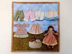 Varalzinho em patchwork da Amellie - Amellie Bonecas e Patchwork