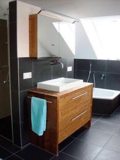 waschtischunterschrank in eiche massivholz vintage look b derausstellung pinterest interiors. Black Bedroom Furniture Sets. Home Design Ideas
