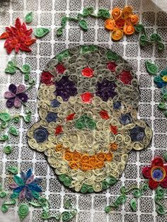 day of the dead quilling project
