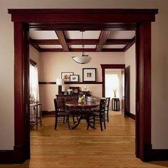 Kitchen Colors With Oak Floors Wood Trim 49 Ideas Oak Wood Trim, Stained Wood Trim, Door Design, House Design, Red Oak Floors, Oak Flooring, Craftsman Interior, Craftsman Style Bathrooms, Craftsman Style Interiors