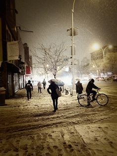 New York City Snow - Lower East Side - Delancey Street | Flickr - Photo Sharing!