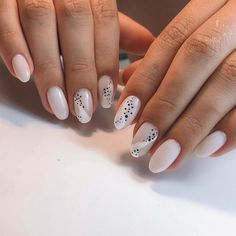 Discover new and inspirational nail art for your short nail designs. Learn with step by step instructions and recreate these designs in your very own home. White Nails, Pink Nails, My Nails, Dot Nail Designs, Nails Design, Nails Short, Minimalist Nails, Pin On, Manicure E Pedicure