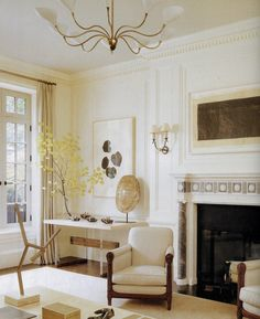 Lovely Living Room. Designed by Victoria Hagan - Elle Decor