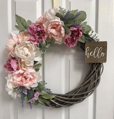 Excited to share this item from my shop: Spring Willow Branch Wreath Spring Floral wreath Spring Door Easter Door Hello Wreath Peony Wreath Willow Branch Wreaths For Front Door, Door Wreaths, Ribbon Wreaths, Burlap Wreaths, Mesh Ribbon, Willow Wreath, Grapevine Wreath, Tulle Wreath, Diy Wreath