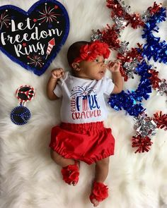 "@cutelittlebabiees on Instagram: ""HAPPY 4th JULY 💜💙🇺🇸🇺🇸"" Fourth Of July Shirts, 4th Of July Outfits, Kids Outfits, White Bodysuit, Baby Bodysuit, 4th Of July Celebration, Baby Bloomers, Handmade Baby, Handmade Gifts"