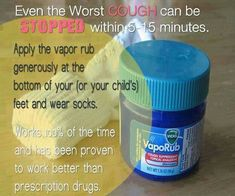 Vicks vapor rub vicks vapor and drugs on pinterest for Putting vicks on the bottom of your feet