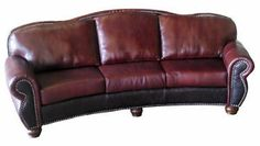 Western 100% Leather Couch | Details About REMINGTON CURVED SOFA 100%  LEATHER NEW