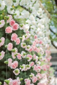 Backdrop using carnation flowers