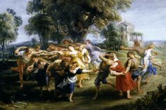 Peter Paul Rubens(1577-1640)-BAROGUE-(Dance of Peasants_1636-1640)Oil on panel(73x106)_Prado museum Madrid 1