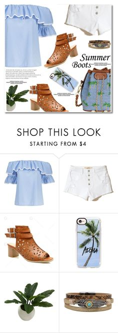 """""""Summer Booties"""" by paculi ❤ liked on Polyvore featuring Hollister Co., Casetify, Threshold and summerbooties"""