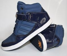 GENUINE ADIDAS SNEAKERS MENS BLUE TRAINERS SIZE UK 5 Rare Collectable Shoes