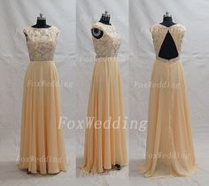 Long High Neck Prom Dress Open Back Prom GownBeaded by FoxWedding, $189.00