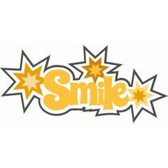 Silhouette Design Store - View Design #41021: smile title phrase