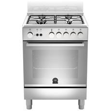 GLEM GAS Cucina a Gas A664GI 4 Fuochi Gas Forno Gas Classe A ...