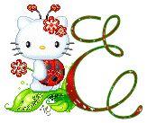 Alfabeto tintineante de Hello Kitty Mariquita.