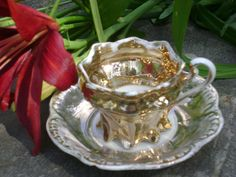 Circa 1920, vintage German childs gold tea cup