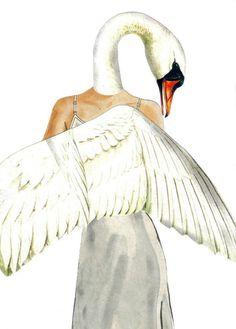 #swan #whiteswan #swanart #collage #collageart #fantasyart #fairytaleart