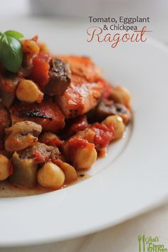 Tomato, Eggplant, and Chickpea Ragout