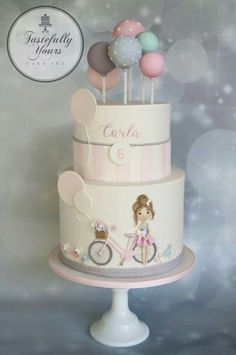 Love the details on the lower tier, very cute and a very stylish cake.   www.rathersplendid.co.uk