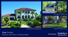 High End Real Estate Postcard Real Estate Postcards, Amelia Island, Coast, Graphic Design, Mansions, House Styles, Fancy Houses, Mansion, Manor Houses