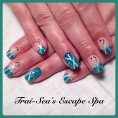 Blue with lines by TraiSeasEscape from Nail Art Gallery