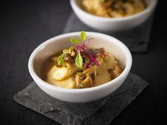 Polenta with truffled mushrooms served by Scarpetta at Toronto Taste