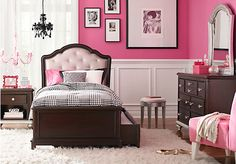 picture of Dawn Court Cherry 5 Pc Twin Bedroom from Bedroom Sets Furniture