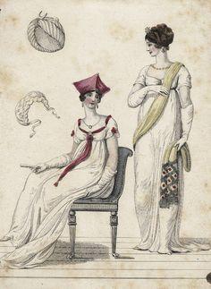 Fashion plate, 1806 England, La Belle Assemblée