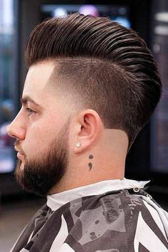 For the trendiest ideas on a pompadour mens hairstyle, turn to our guide. Here, you will find a haircut for anybody, from white to black men, be it an undercut pomp with a taper or curly bangs with a fade. #menshaircuts #menshairstyles #pomp #pompadour #pompadourhaircut #pompadourhairstyle Pompadour Hairstyle, Undercut Pompadour, Undercut Hairstyles, Trendy Hairstyles, Tapered Undercut, Taper Fade Haircut, Tapered Haircut, Curly Bangs, Curly Hair Styles