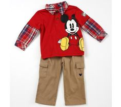 Plaid and Khakis Mouse Set at Kohl's #disneybaby