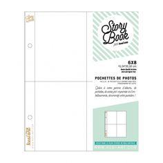 Pochettes Story Book 15x20 - 4 compartiments 7,5x10 - Kesi'art