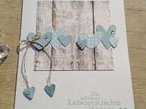 Peppige Hochzeitskarte mit Herzchen