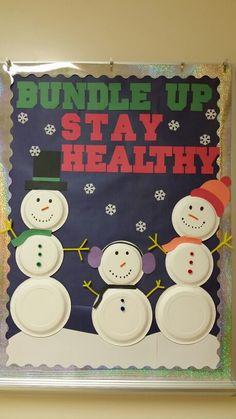 Winter bulletin board for health clinic