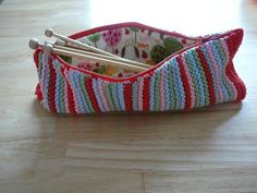 Knitted pencil case! How cute c:
