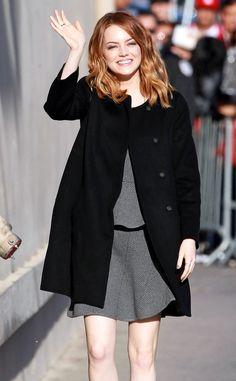 Emma Stone looks effortlessly chic for Jimmy Kimmel Live!