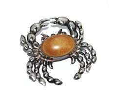 Hey, I found this really awesome Etsy listing at https://www.etsy.com/listing/217957121/early-mexican-silver-figural-crab-brooch