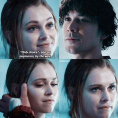 "#The100 4x13 ""Praimfaya"" - Clarke and Bellamy"