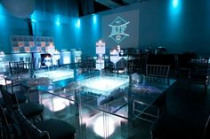 5 Ideas for a Bar & Bat Mitzvah Name Theme - Initials Logo Party Ideas by H&H Photographers - mazelmoments.com