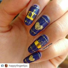 #Repost @happyfingertips with @repostapp  King and Queen Nails #nailart #happyfingertips #nailfie #notd #potd #indiannailartist #indianlacquerholic #nailswag #nailartclub #nailitdaily #showmynails #nailartoohlala #nailartwow #scra2ch #nailartfeature #purplenails #goldnails #kingandqueen by theindianlacquerholic