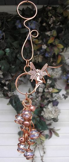 gypsy wind chimes | Fairy Copper and Glass Gypsy Wind Chimes / Windchime Garden Art ...
