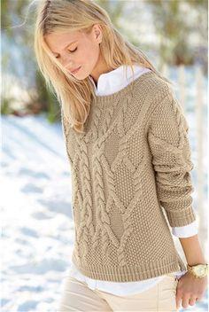 Дамски пуловер, кремава - Next | Stilago