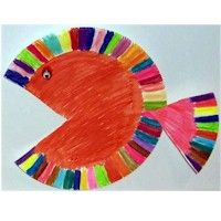Paper Plate Fish: Pompom Clown: Every Friday our Friday Playgroup (basically storytime for little kids) has crafts... which means I have to come up with a lot of simple things they can do within 15 minutes. Yeash. Not easy. I have not done these yet, but I'm going to do a variation of this in May 2013.