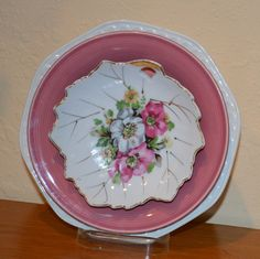 Rose Floral Wall Plate by TreasureTroveDecor on Etsy