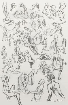 drawing poses | figure drawing action poses by dou hong traditional art drawings ...